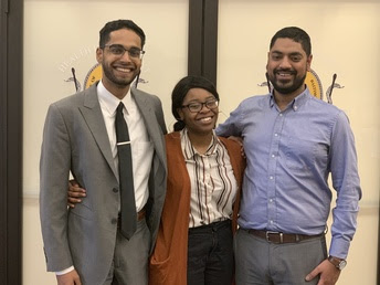 Baltimore Corps Fellow pictured left to right: Vijay Ramasamy, Joy Barnes, and Kabir Hossain.