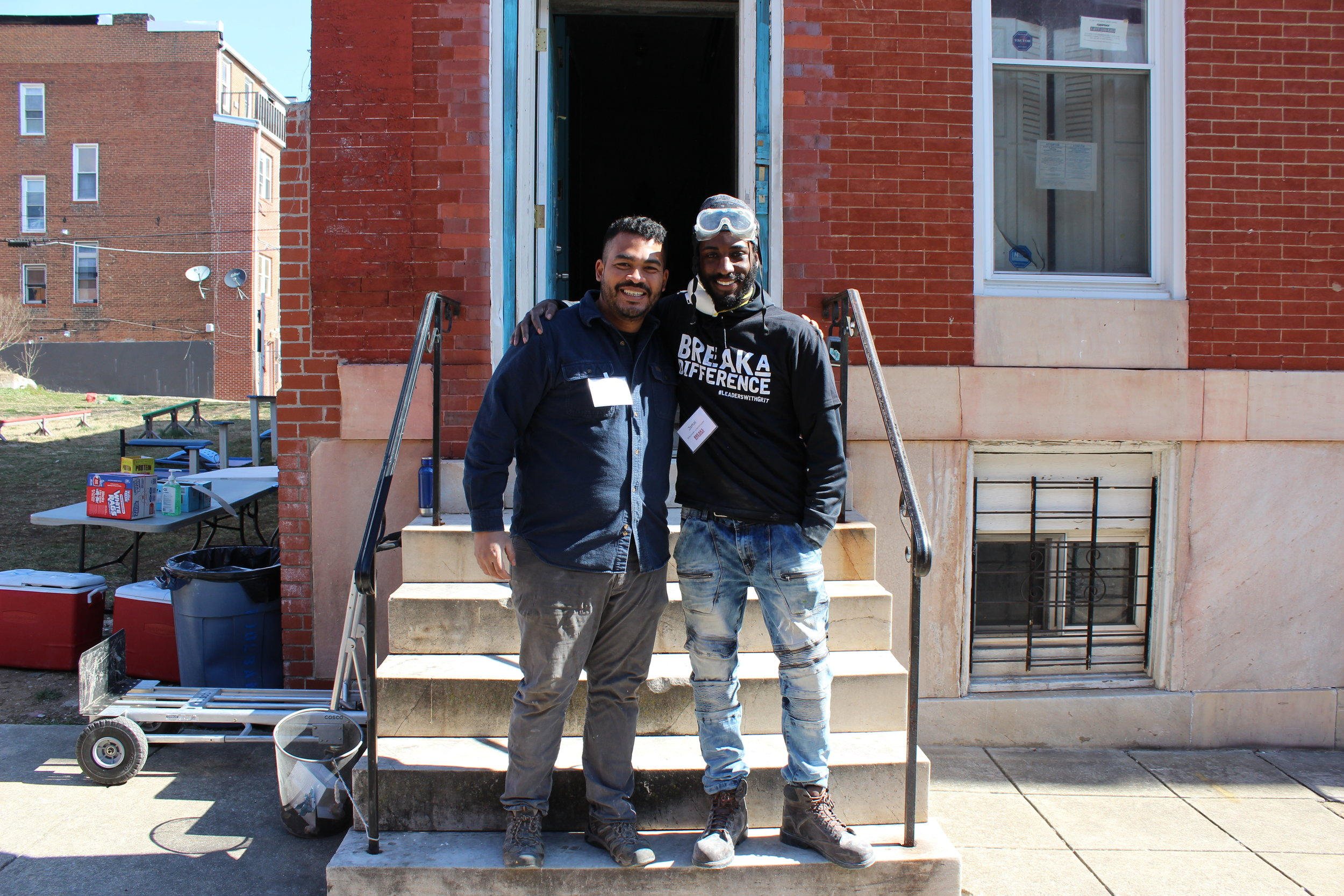 (L) Brian Pham, President of Break A Difference, and (R) Jamal Johnson, Engagement Ally with Break A Difference