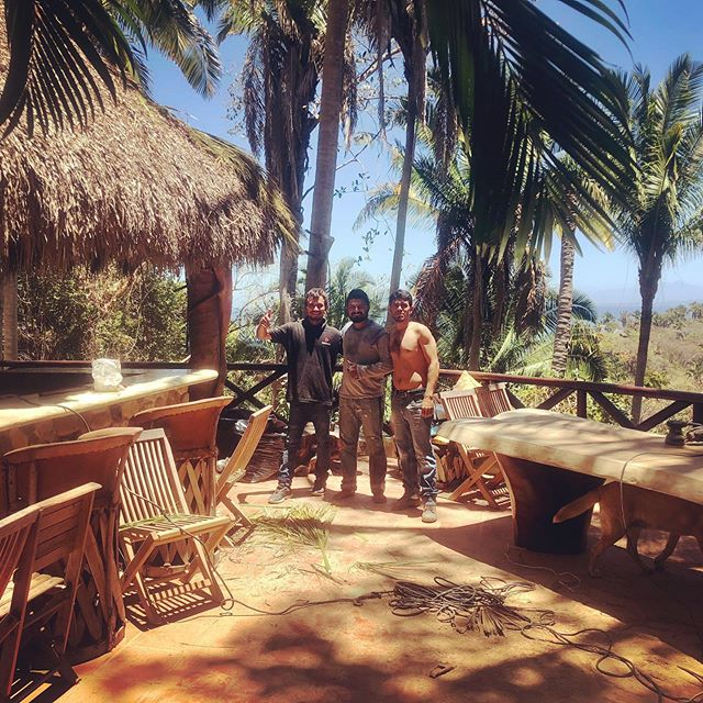 Spring projects underway in the jungle 🌴! Palapa repairs, refinishing wood, building new additions 🔨💪🏻. We're closing June 1st for the rainy season but will be stoked to be back in action in October 😎. #wildpreneurs #junglelife #ecolodge #tailwindjunglelodge #sanpanchonayarit #entrepreneurlife #laboroflove #passionintobusiness