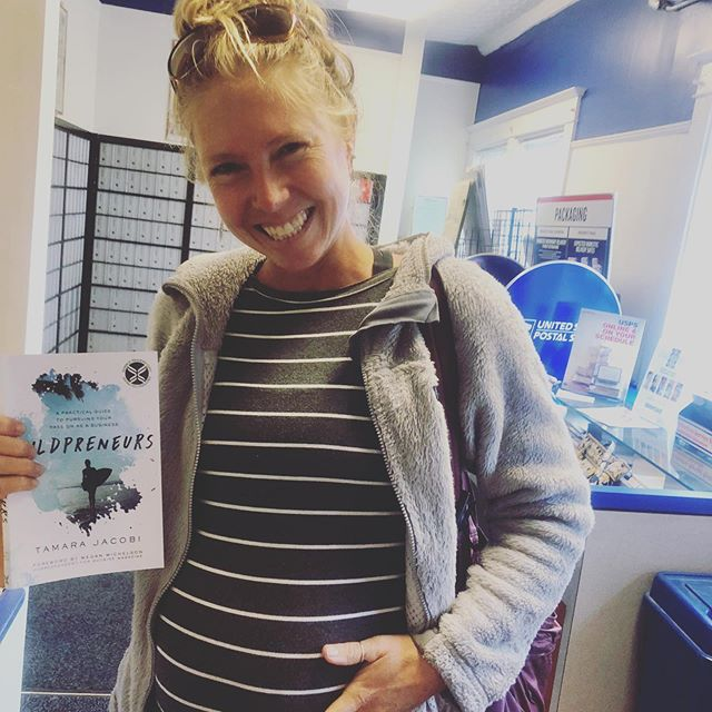 Baby and book coming to life!! 34 weeks pregnant and I did a happy dance/waddle in the post office yesterday when I finally got to hold a hard copy of @wildpreneurs (a 4 year writing journey!). Jungle baby and book due in November ❤️. The creative juices are flowing mind and body. Headed back to the jungle next week to get the @tailwindjunglelodge opened up for the season. Gracias @hcleadership for your incredible support. Bring on the new beginnings!! #34weeks #book #entrepreneurlife #harpercollinsleadership #junglelife #freespirits #passionintobusiness #author #momtobe #wildpreneurs #inspiration