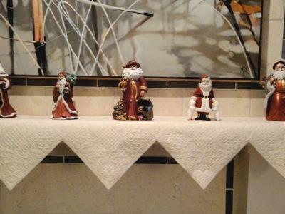 Scarf with Santas