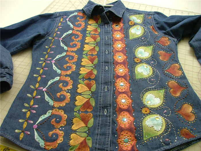Painted Denim Shirt