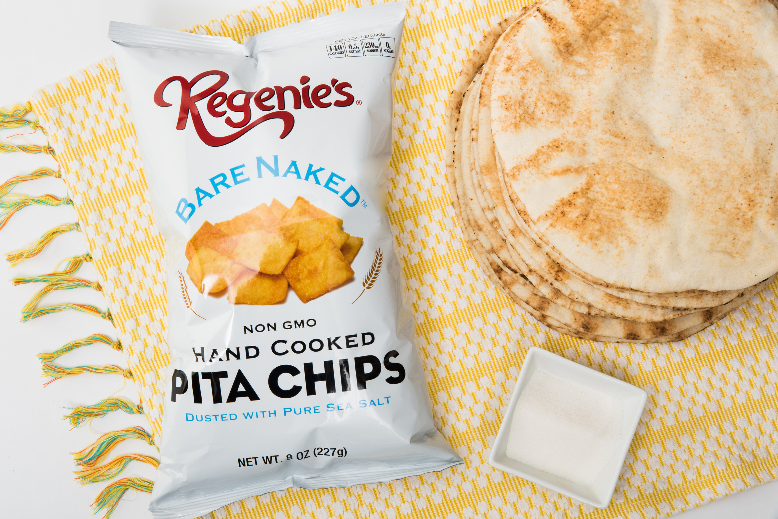 Pure and simple recipes - Join the flavor craze with our Regenie's pita chips. Our recipes include pure and simple recognizable ingredients that you can trust. Our flavorful and crunchy pita chips can be eaten straight from the bag anytime and anywhere. Try using them in your favorite recipe to add different textures and flavor or serve as a compliment to your favorite dips and spreads.A Pita-ri-fic choice