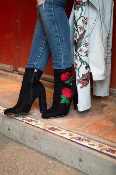 Bring your A game with floral footwear.