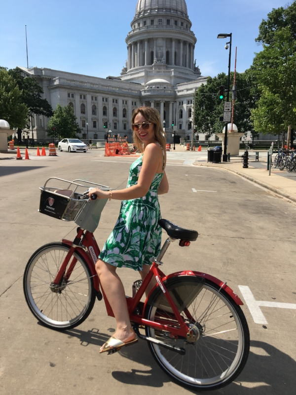 Day 2. Bike rides in downtown Madison are a must!