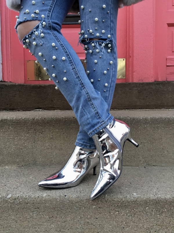 I get complimented by everyone on these silver metallic booties. My latest craze!