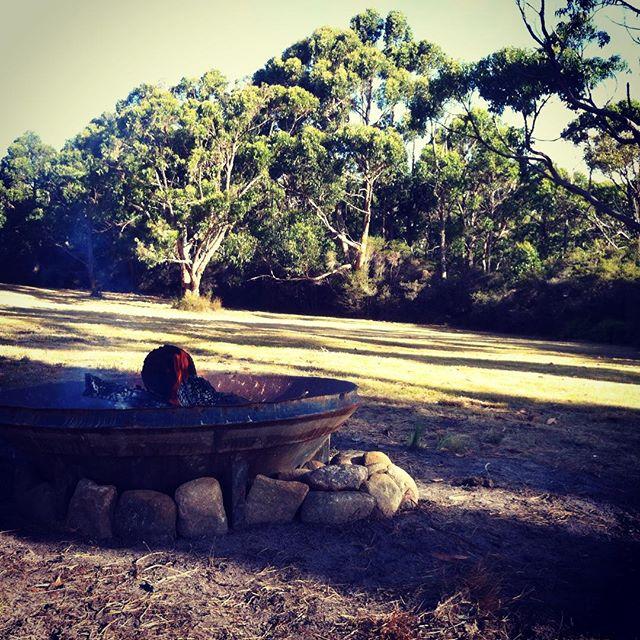 Love a fire...#evenings #nature #friends #flames #brunyisland #campfires #discovertasmania #instagram #australia #see #tasmania