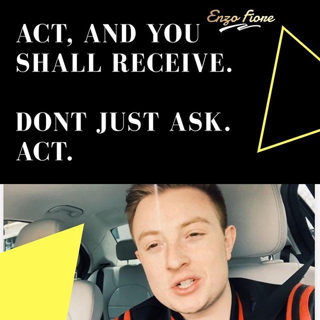 Comment if you like this quote better. 💪🏻👇🏻 . #enterpreneur #entrepreneurlife #millenials #motivation #pathtosuccess #enzofiore #act