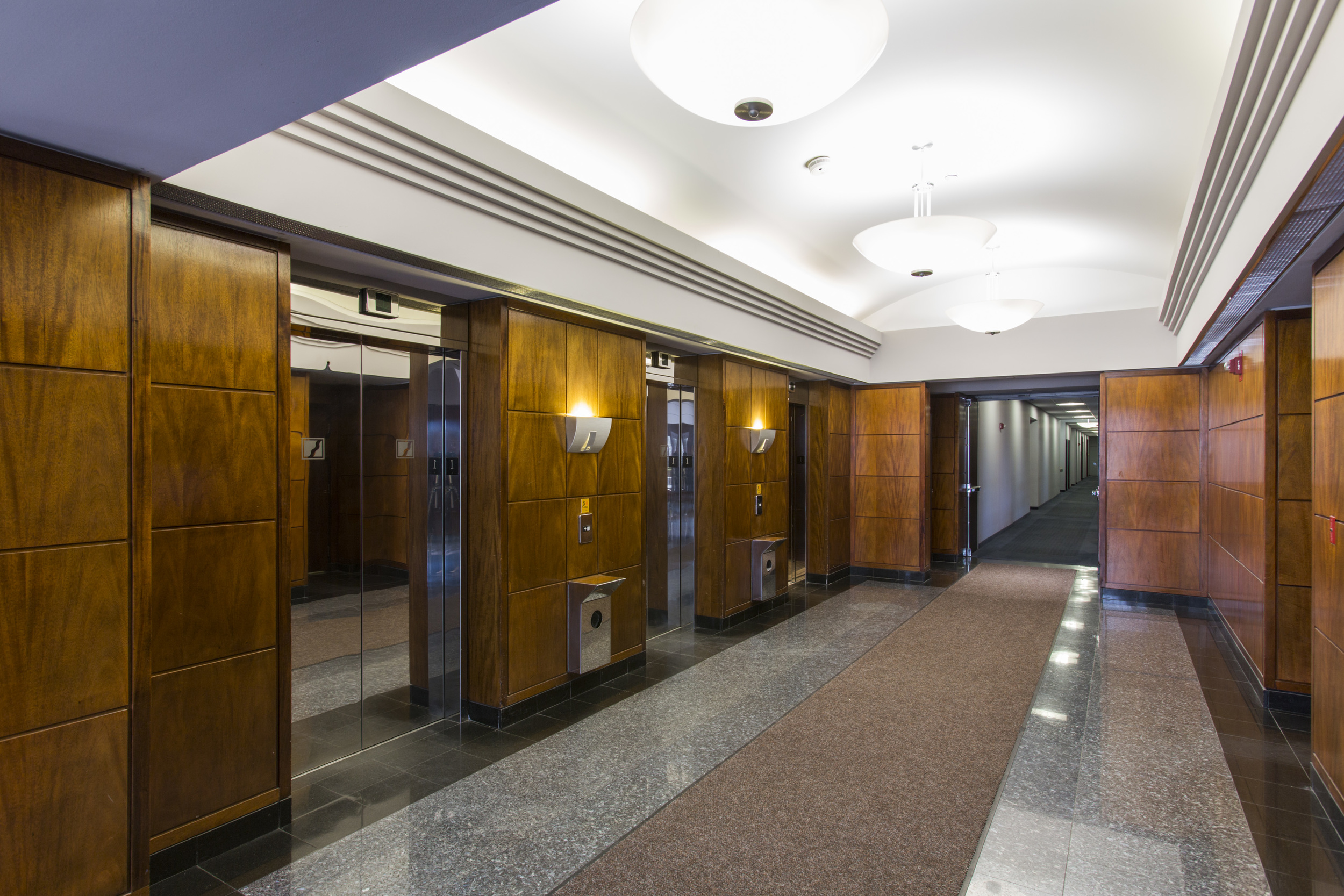 Clean and elegant building lobby