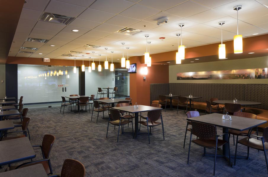Liberty Cafe with seating accommodations for more than 50