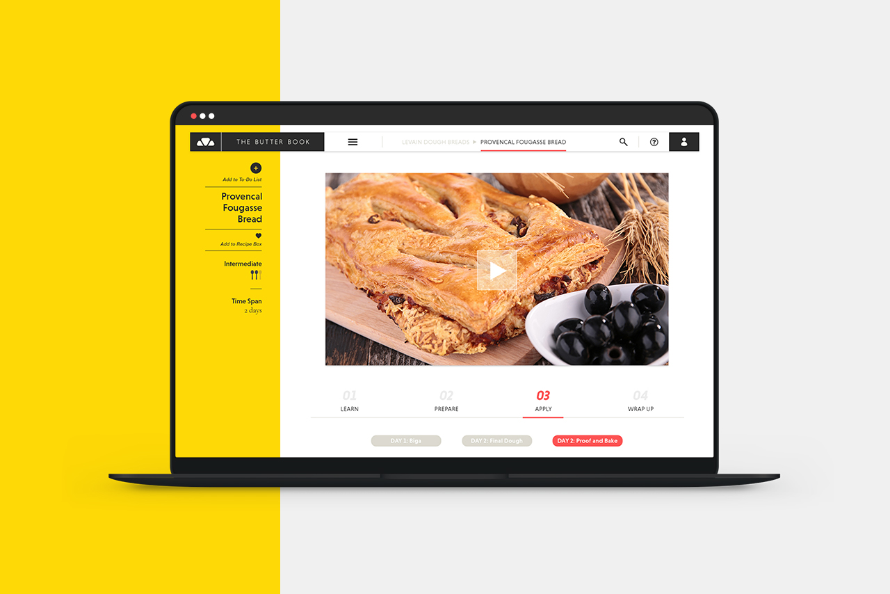 The Butter Book  pastry and baking learning platform / Art Direction + Design