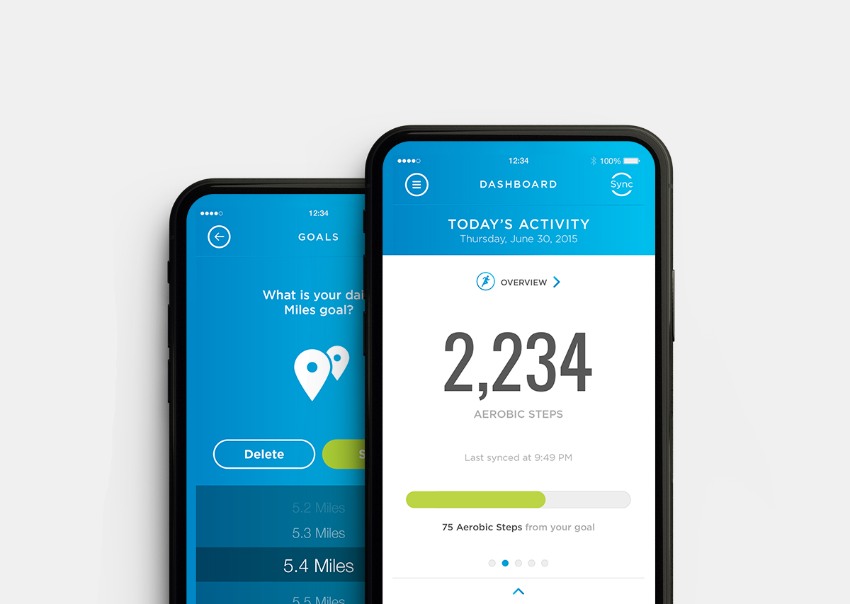 Omron Connect  health tracker app / UI/UX