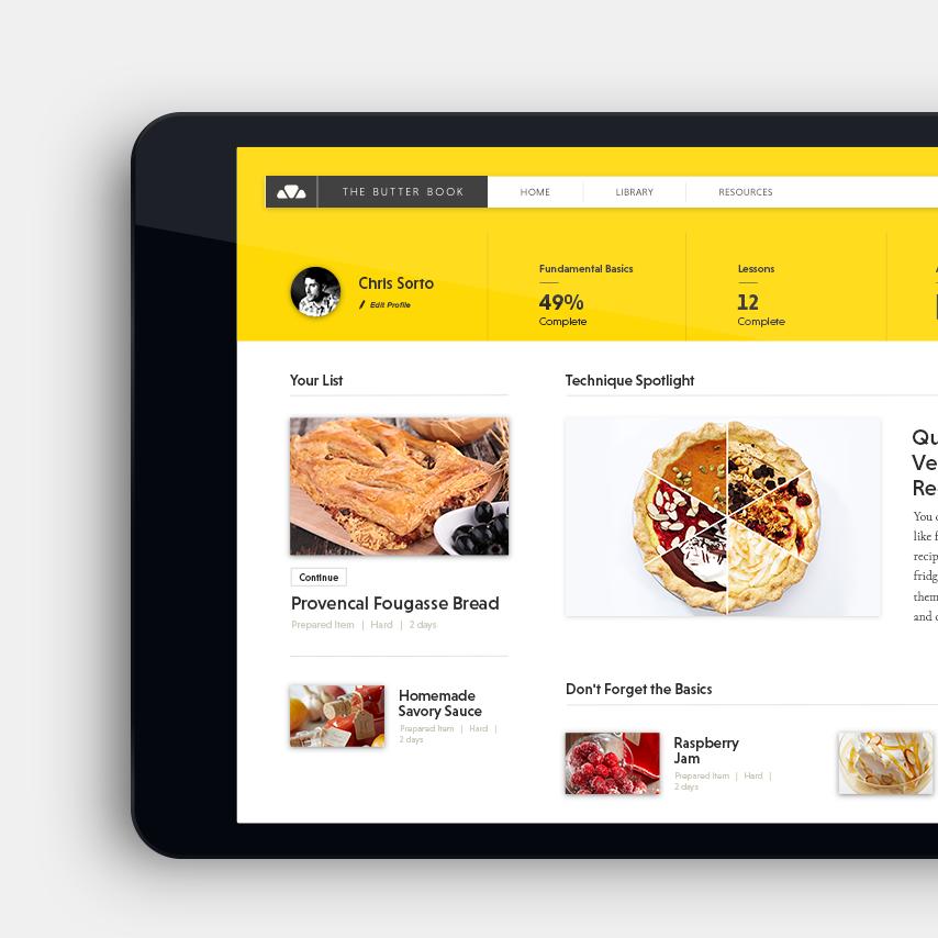 The Butter Book  platform dashboard / Art Direction + Design