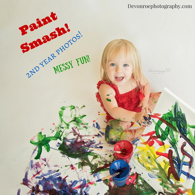 Most choose to do the Paint Smash for a 2nd or 3rd birthday, if they have done a Cake Smash previously.