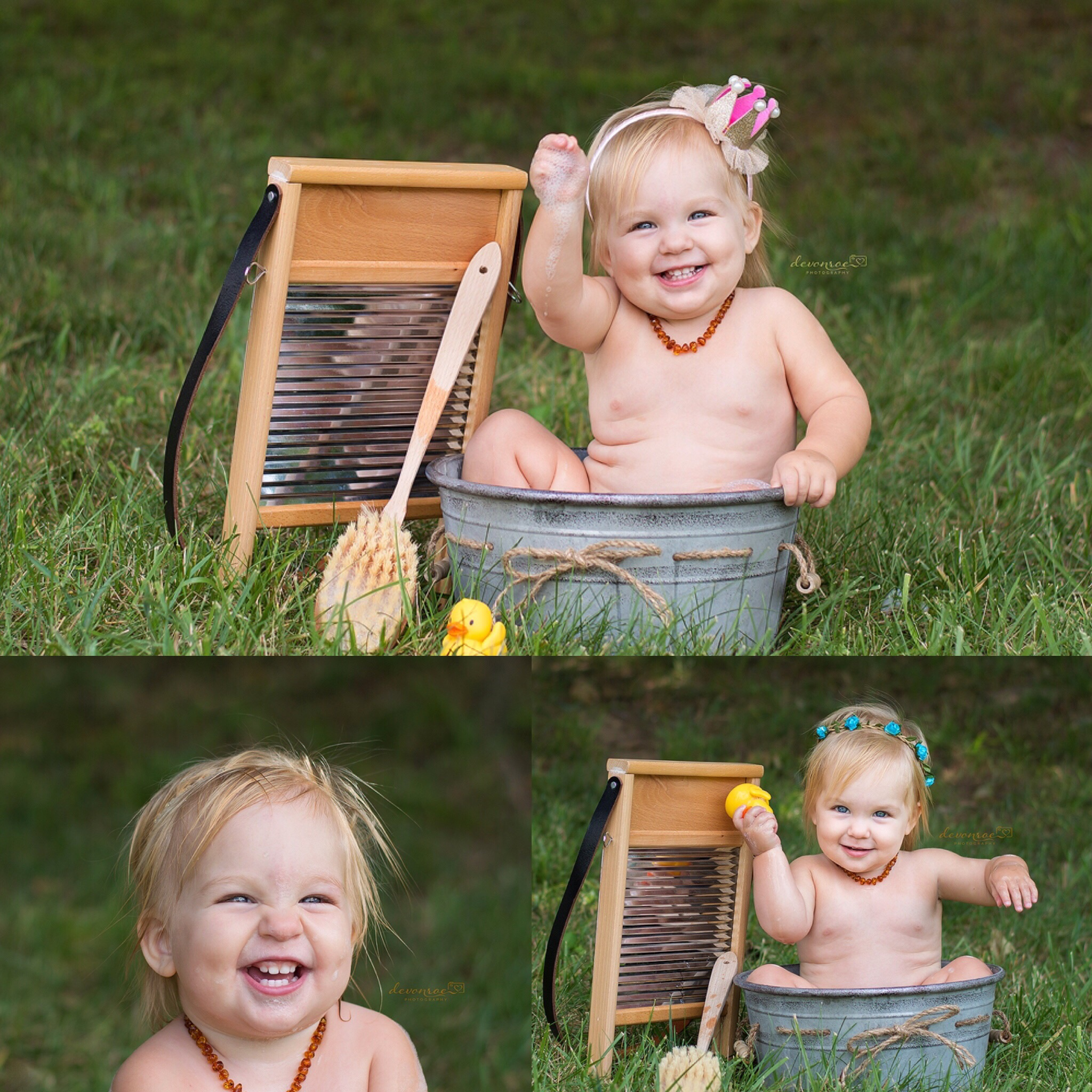 Little ones love water and bubbles and we always get such fun smiles!
