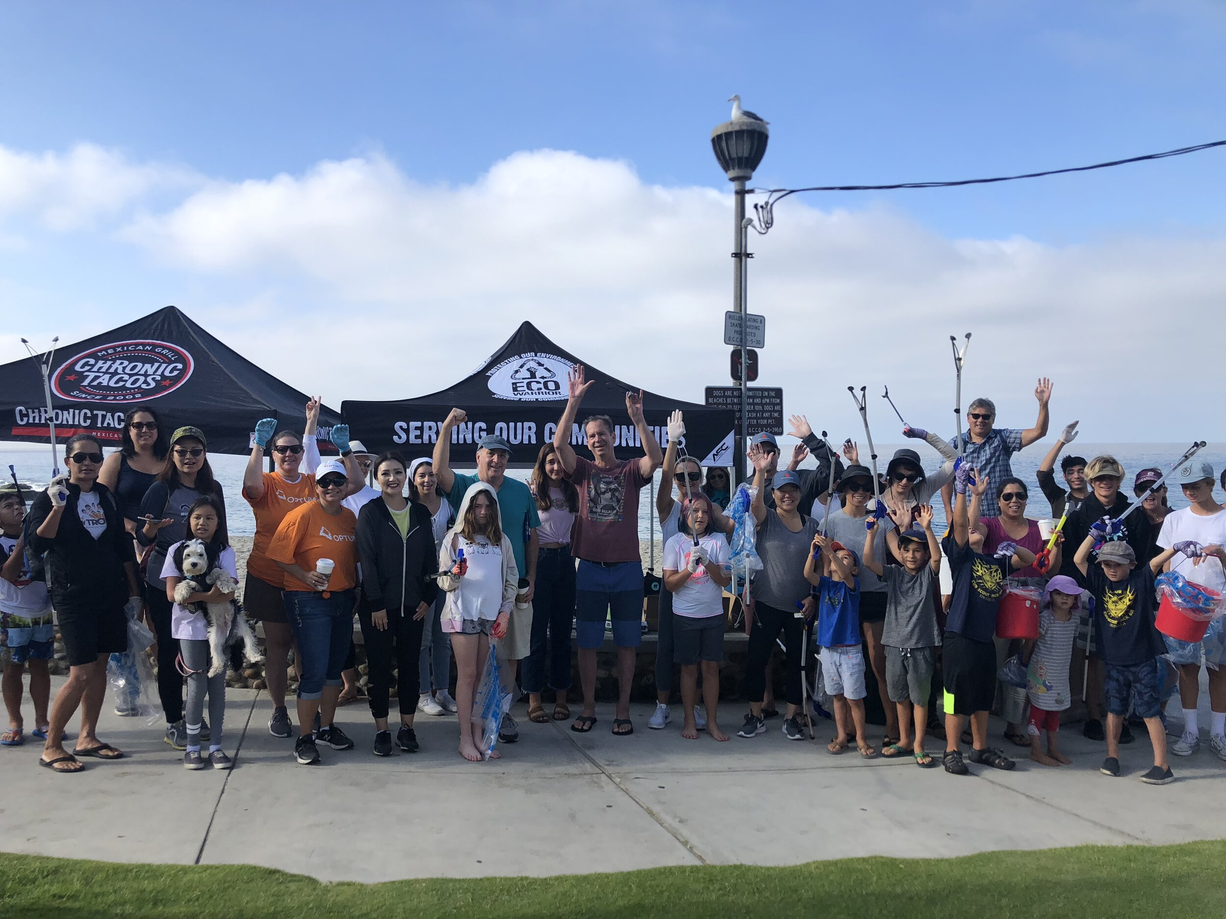 COASTAL CLEANUP DAY A SUCCESS - The ECO Warrior Foundation hosted it's 50th and 51st cleanup simultaneously on International Coastal Cleanup Day at Aliso Beach in Laguna Beach, Ca and Lake Merritt in Oakland, Ca…