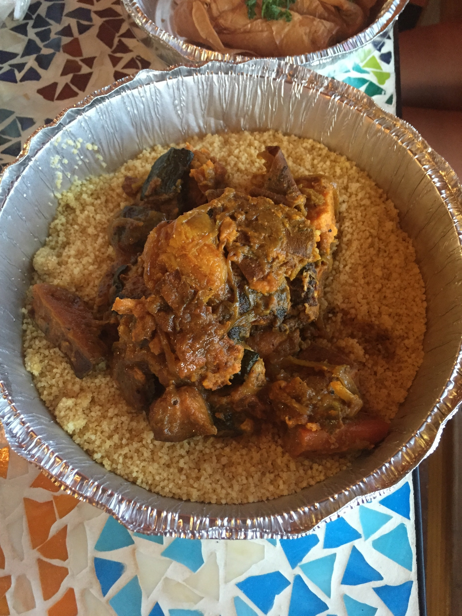 Rubbed Chicken & Apricot Over Couscous