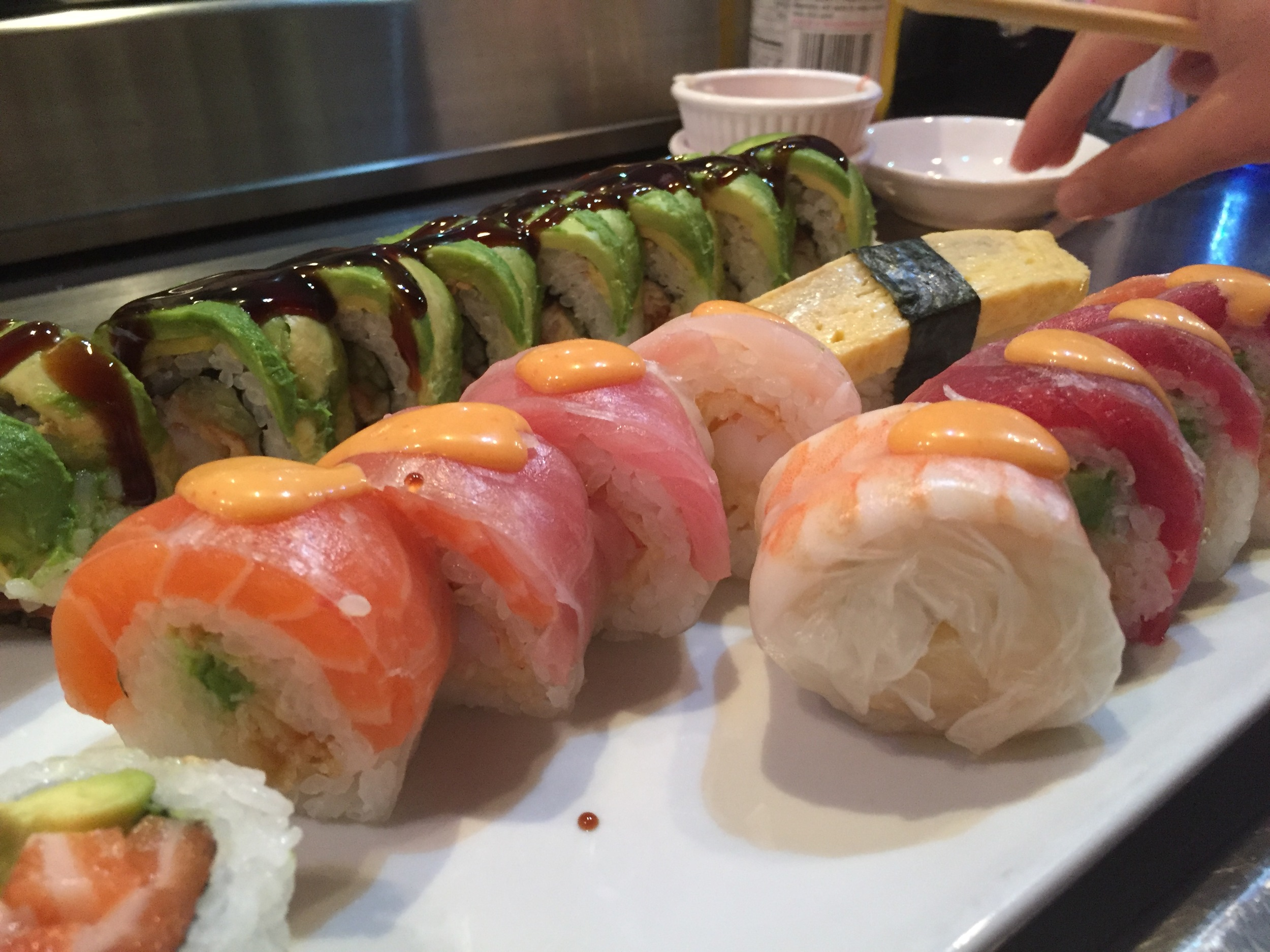Green Dragon, Tamago, and...some other rolls