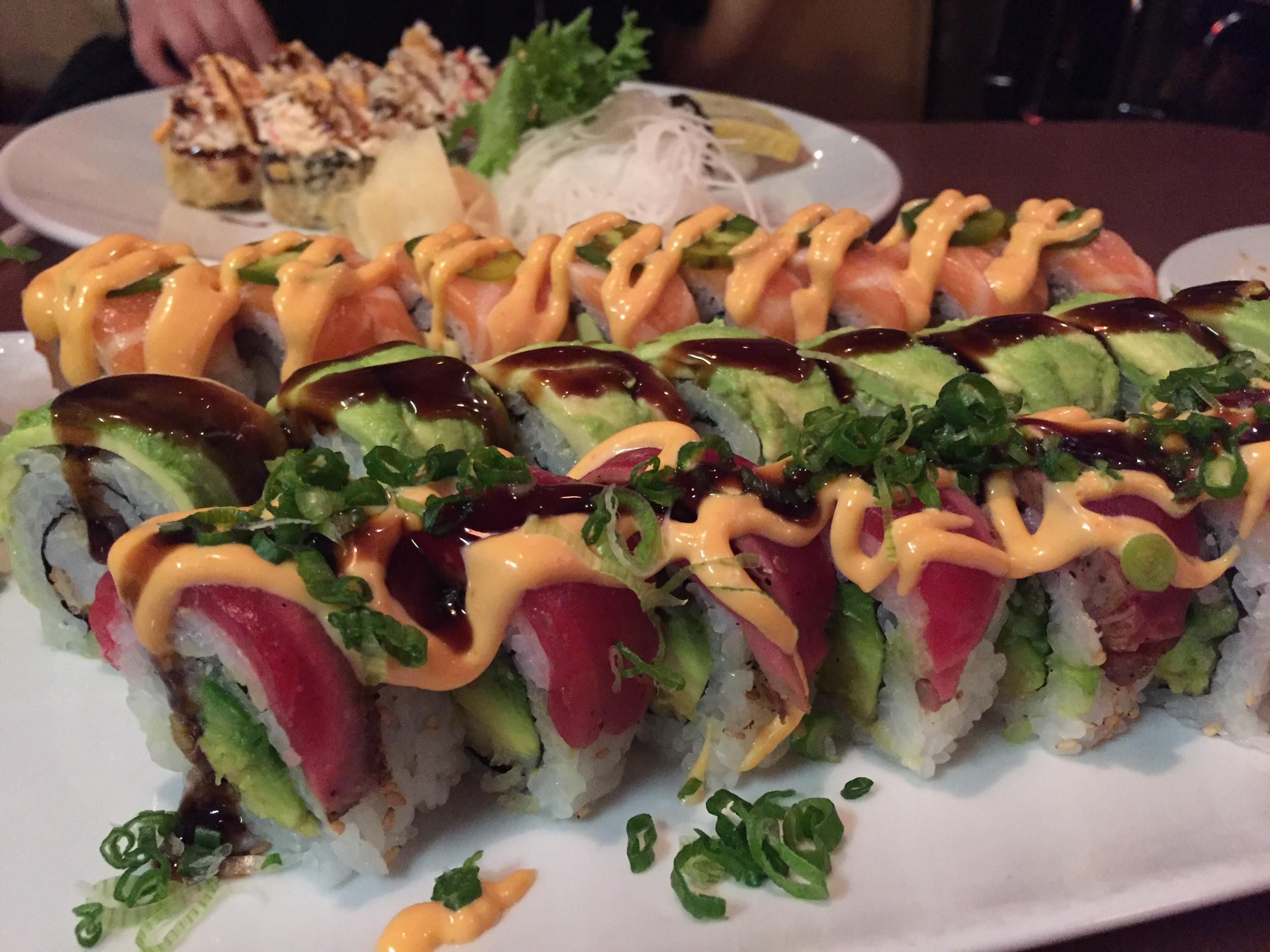 Green Dragon, Ultimate Tuna, & Atomic Salmon