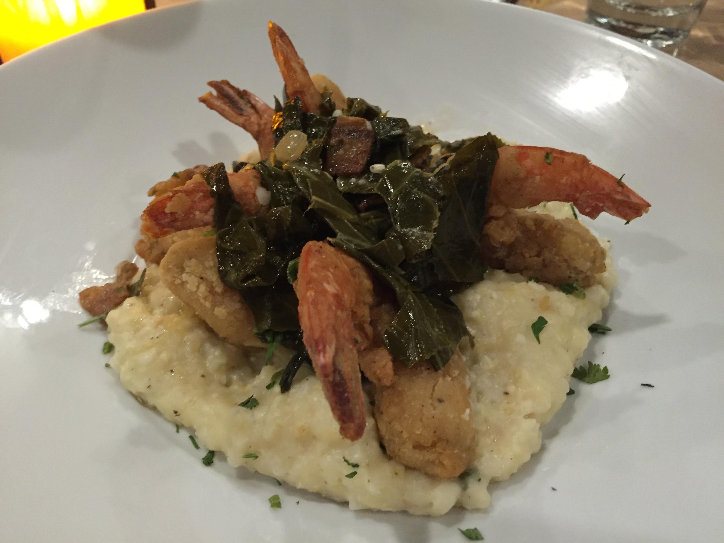 Southern Fried Shrimp & Grits