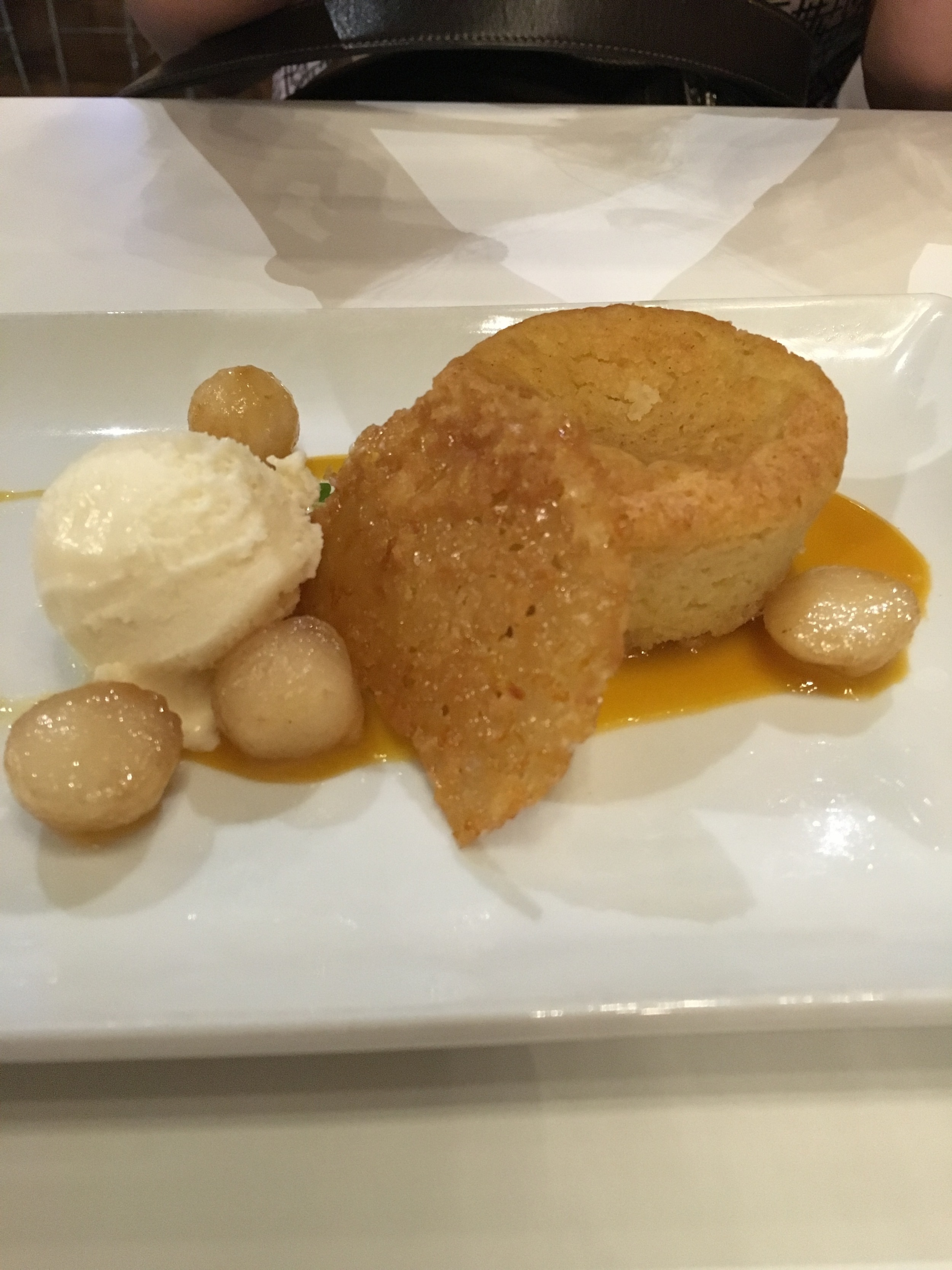 Olive Oil Cake with Honey Sorbet