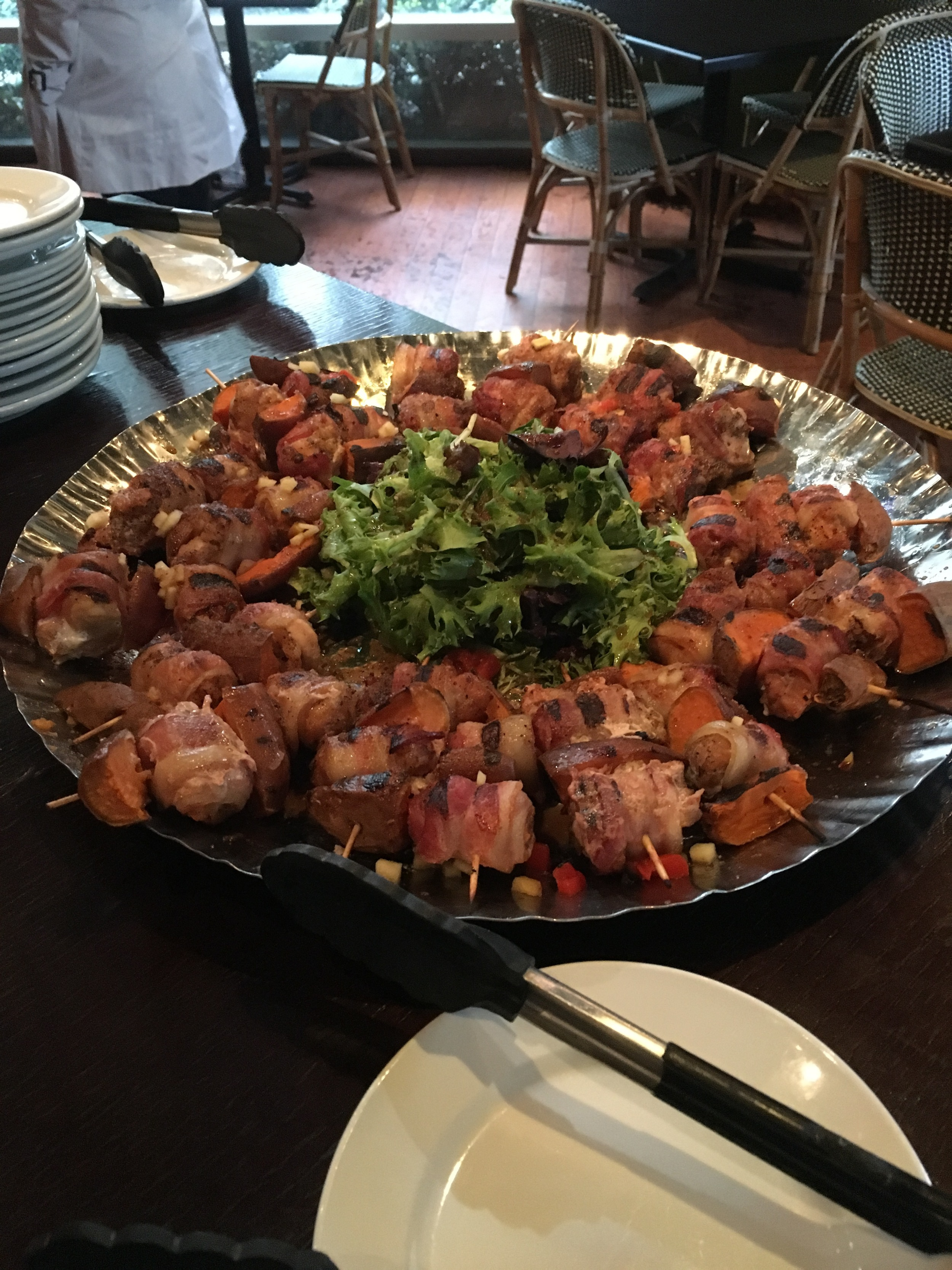 Bacon Wrapped Alligator Tails with Carolina Mustard BBQ Sauce
