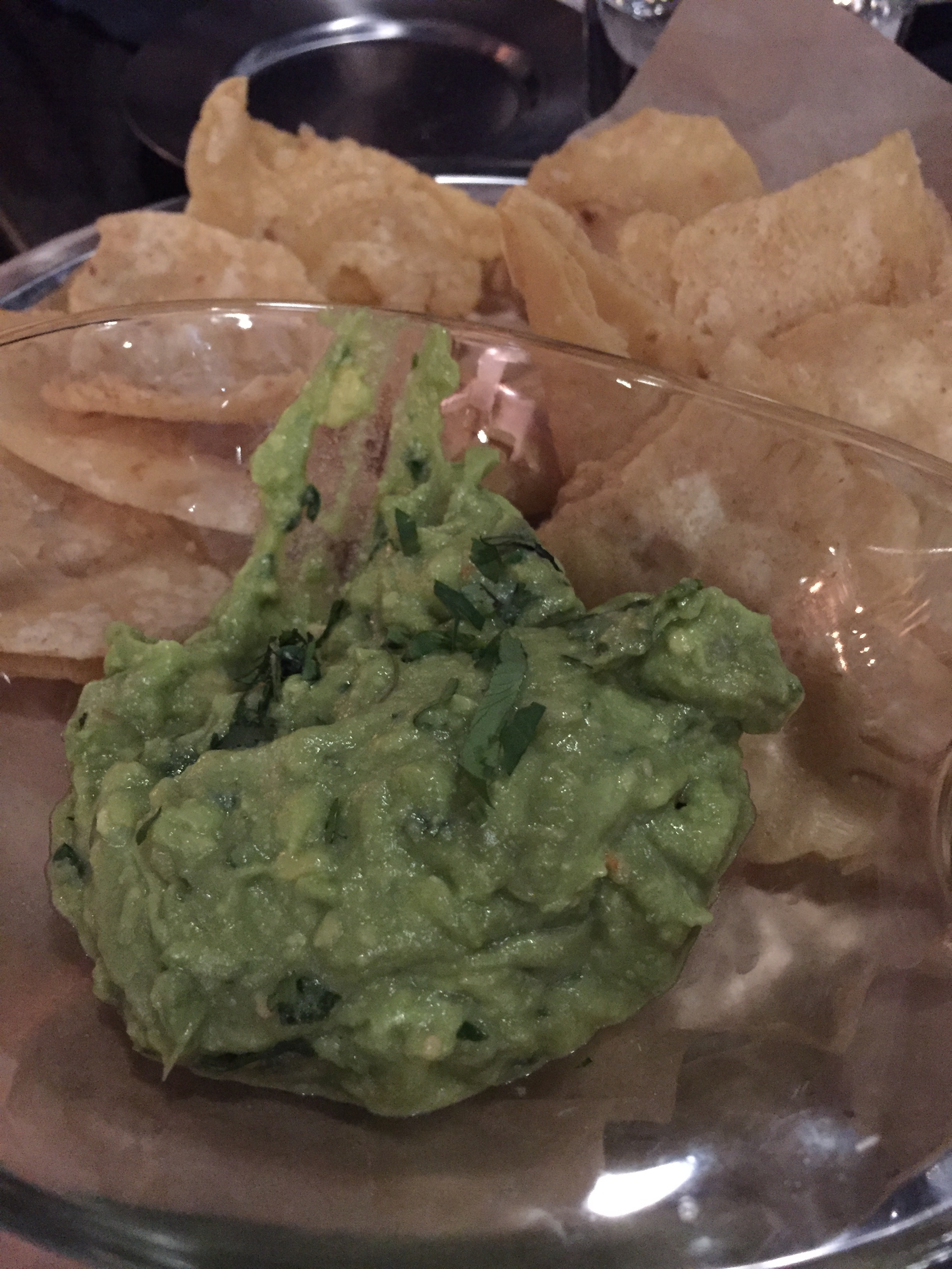 Chewy chips & guac