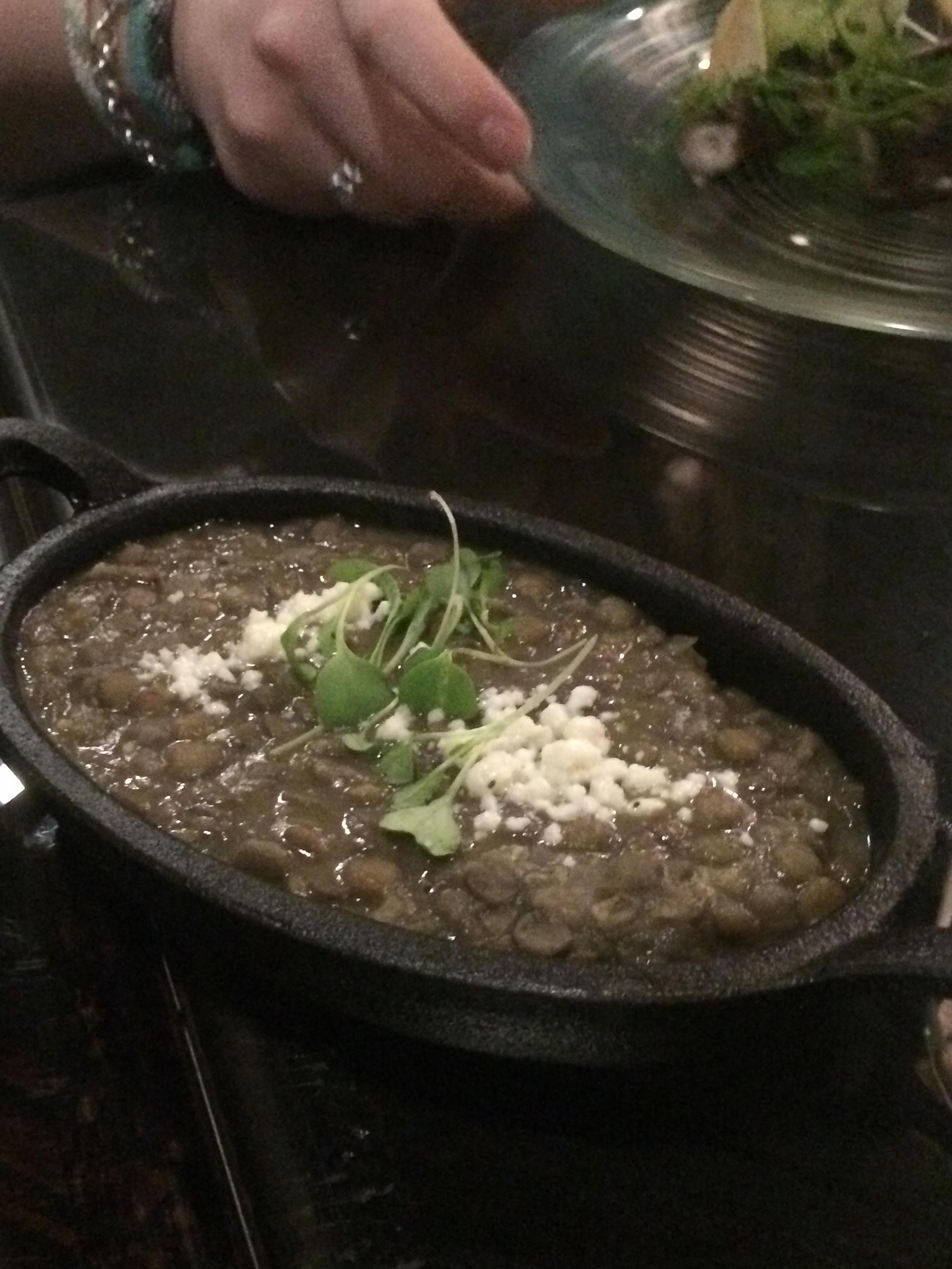 Refried lentils
