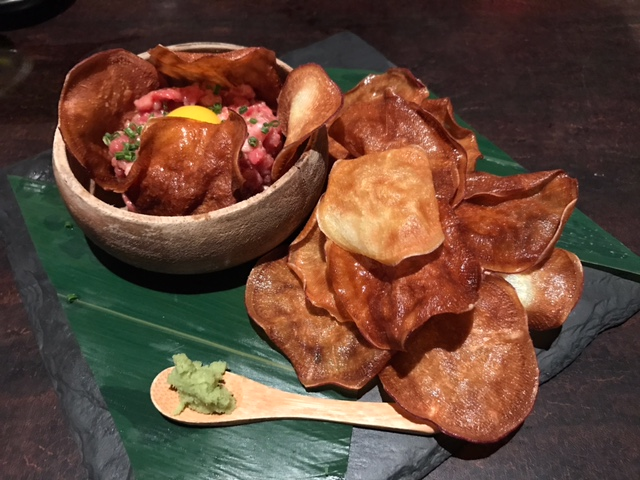 Wagyu Beef Tartare with housemade potato chips