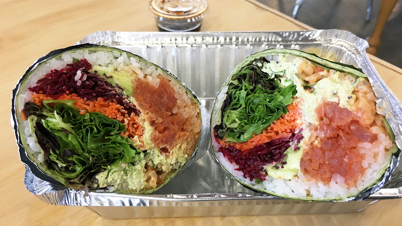 Sushi burrito!//Photo courtesy of  Charlotte Agenda