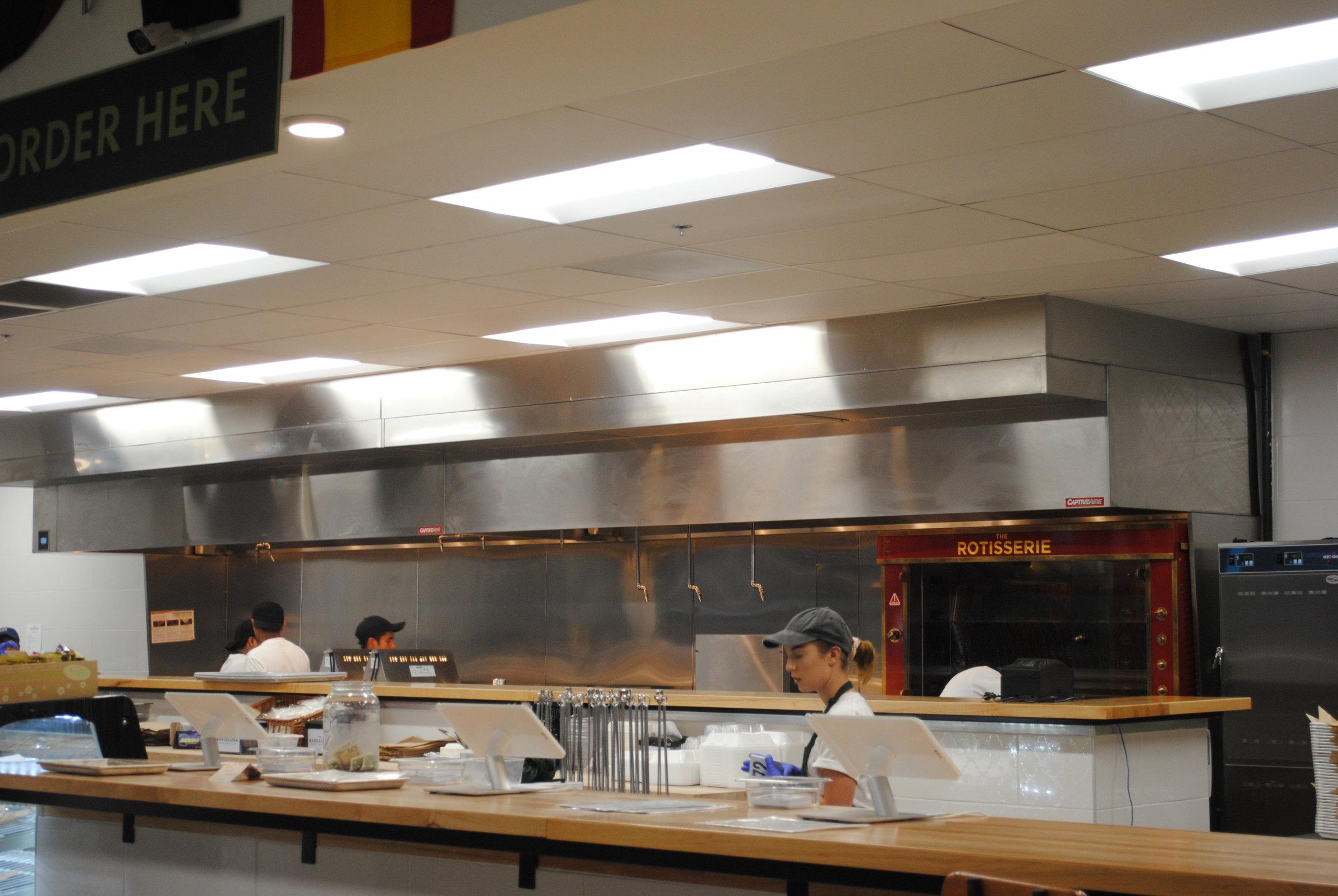 The kitchen team hard at work