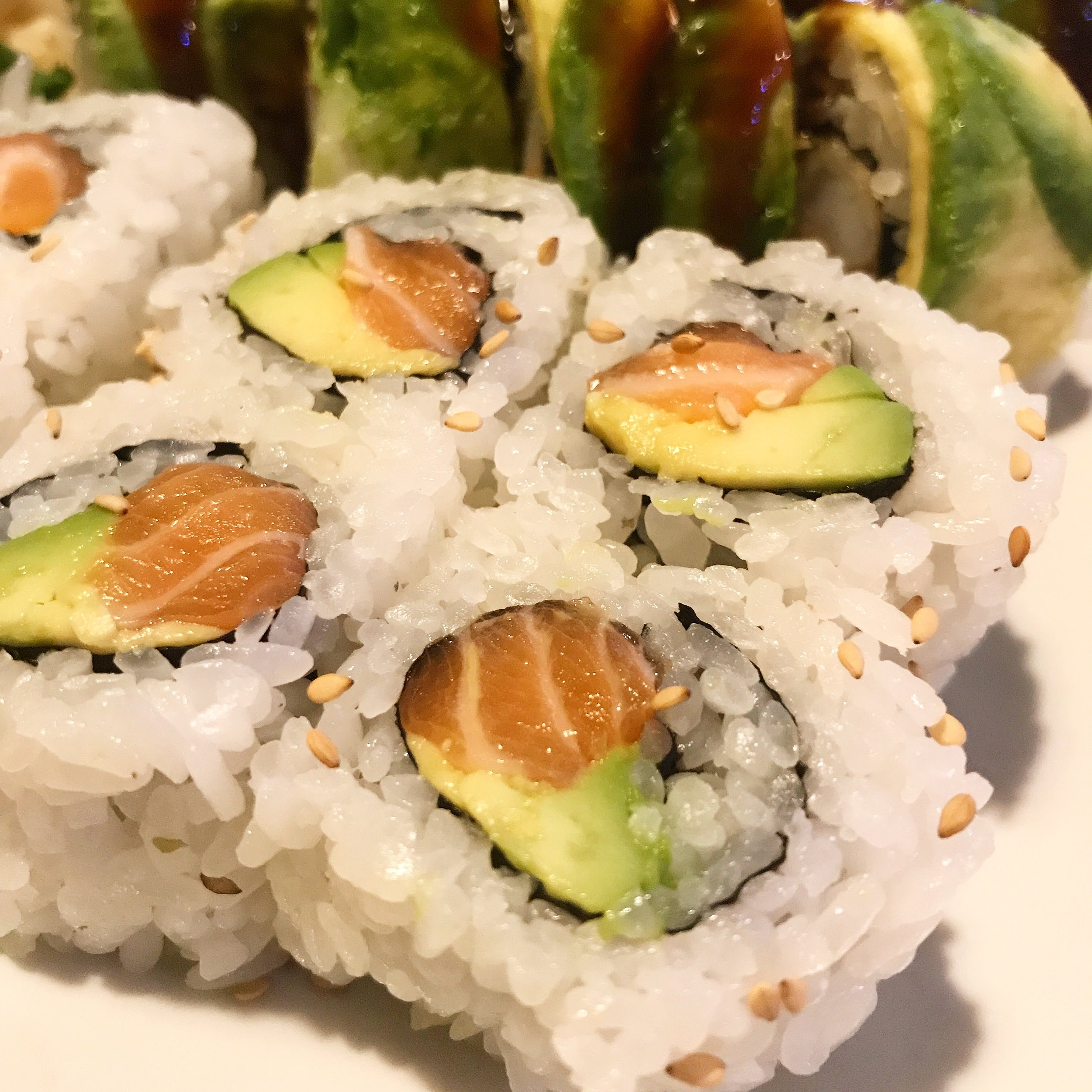 Salmon avocado roll from Ru Sans