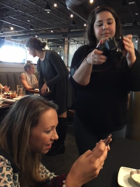 Bloggers behind the scenes
