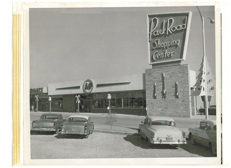 Amazing vintage shot of Park Road Shopping Center/image courtesy of  Style Blueprint