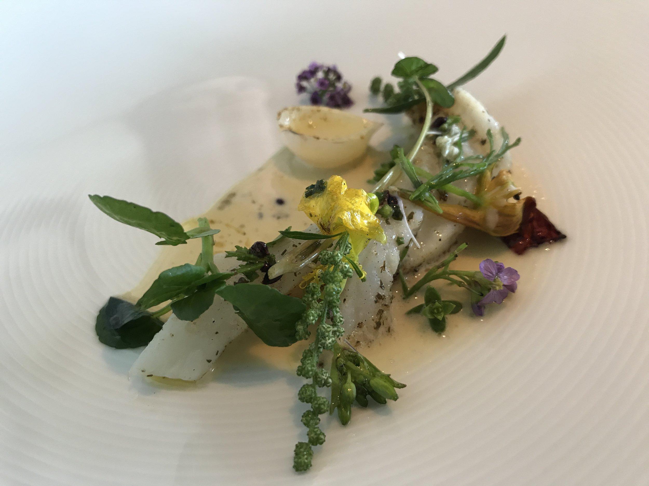Lemon Sole, Onion Herbs,