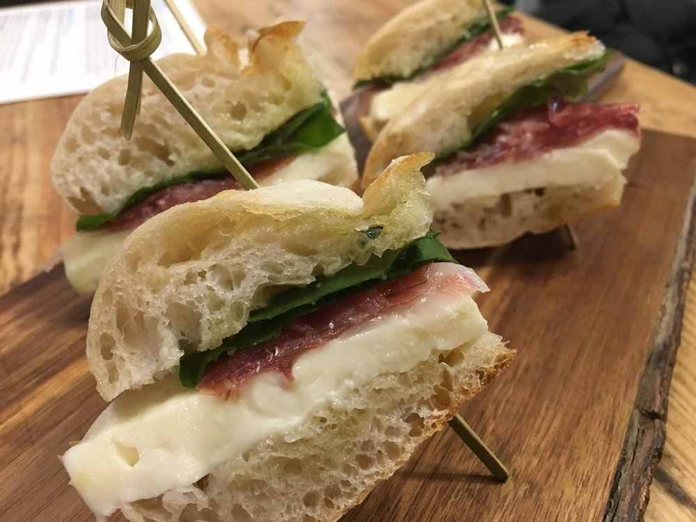 The 13th - House-made mozzarella, La Quercia prosciutto, fresh basil, Queen Creek EVOO