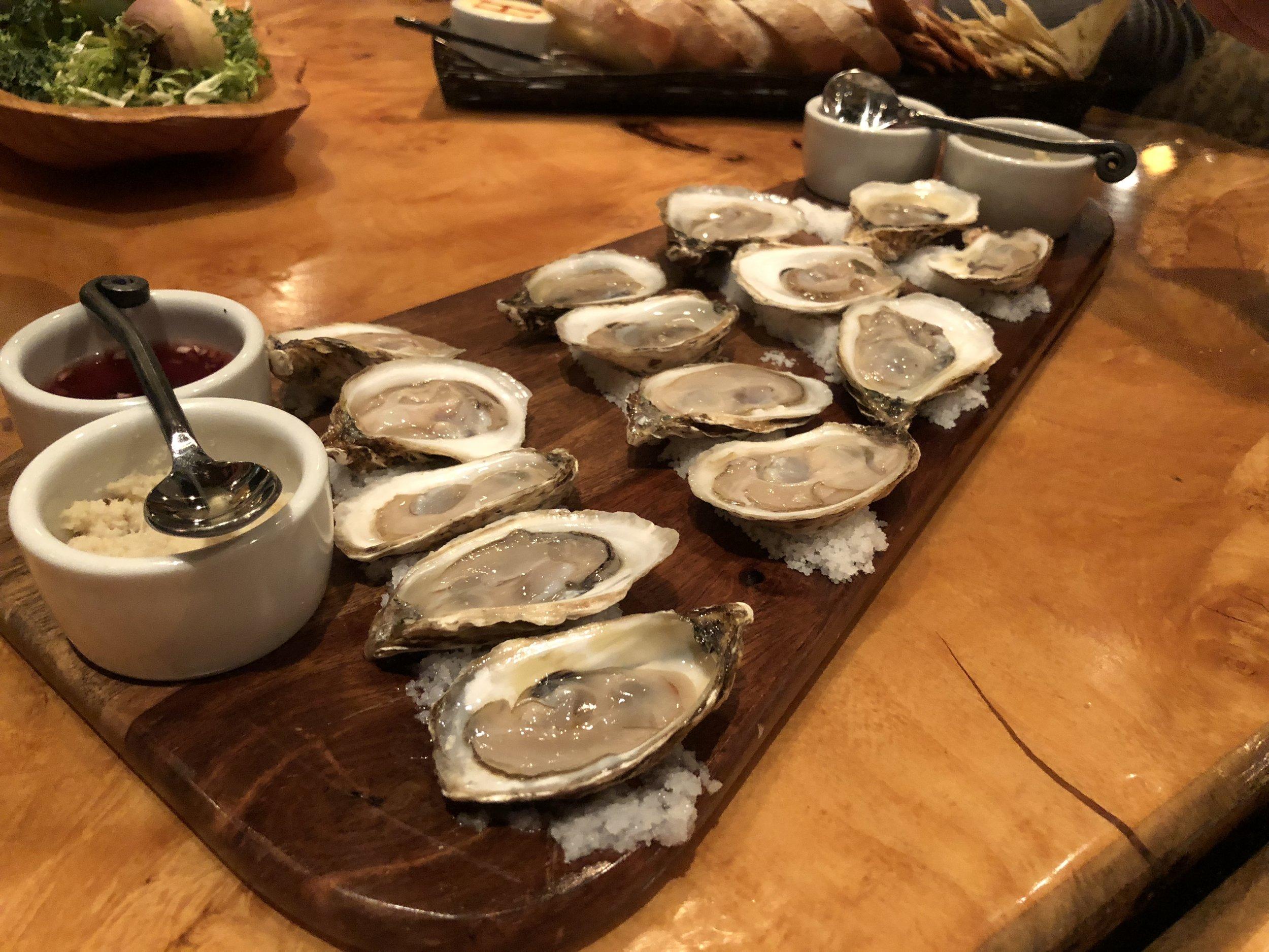 Oysters - Horseradish. Mingonette.