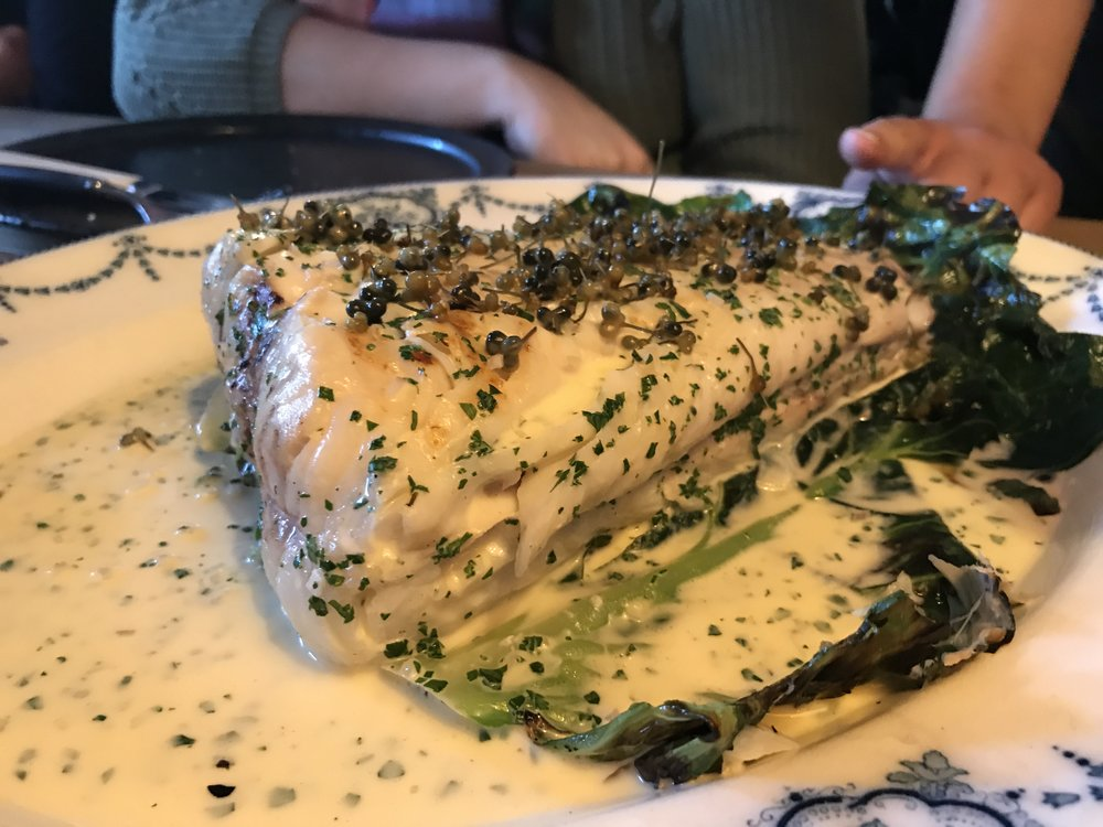 Cod - with capers