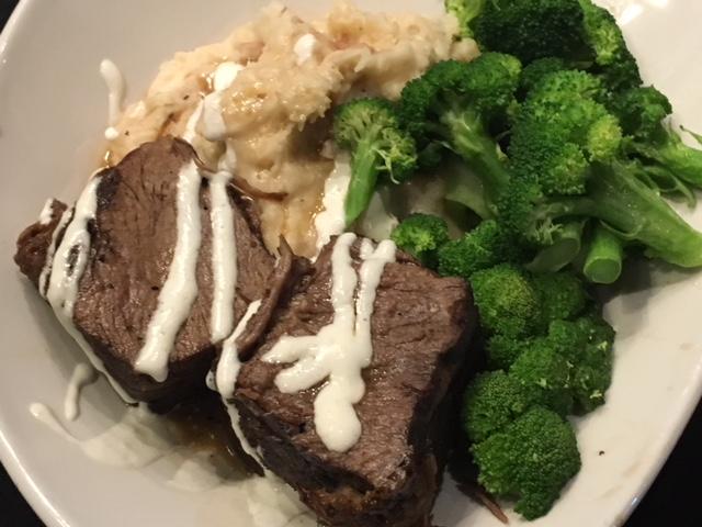 Short Ribs - aged certified Angus beef, mashed potatoes, broccoli, red wine jus, horseradish cream