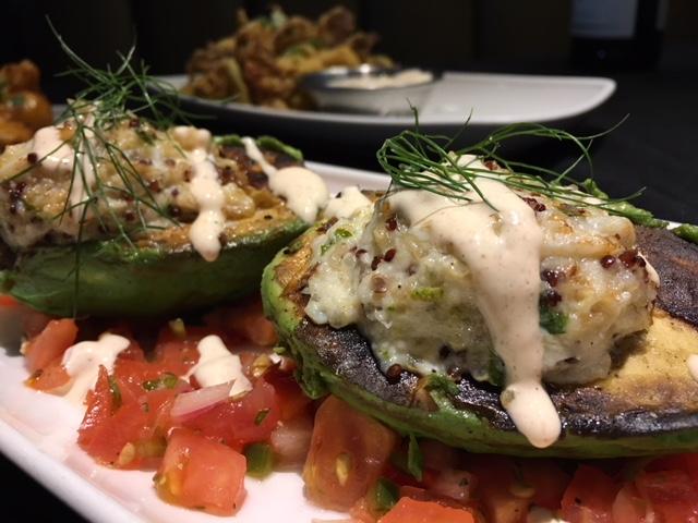 Stuffed Avocado - crab, quinoa