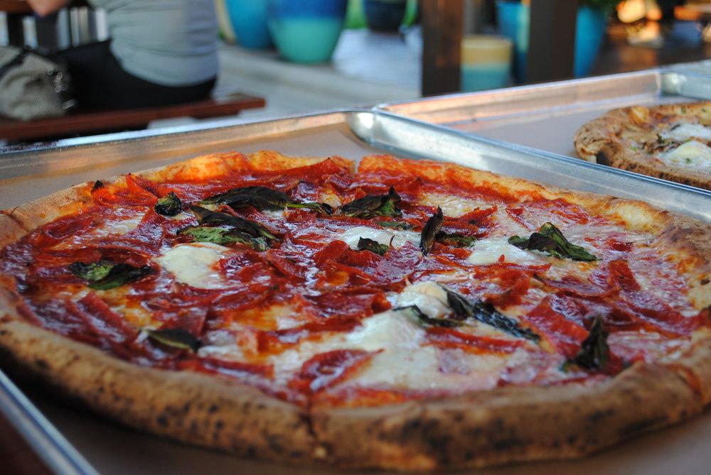Sorrento - Pepperoni, San Marzano tomato sauce, fresh buffalo mozzarella, fresh basil, fresh garlic