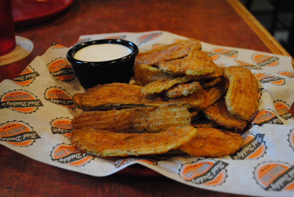 Fried Pickles - Served with traditional ranch dressing