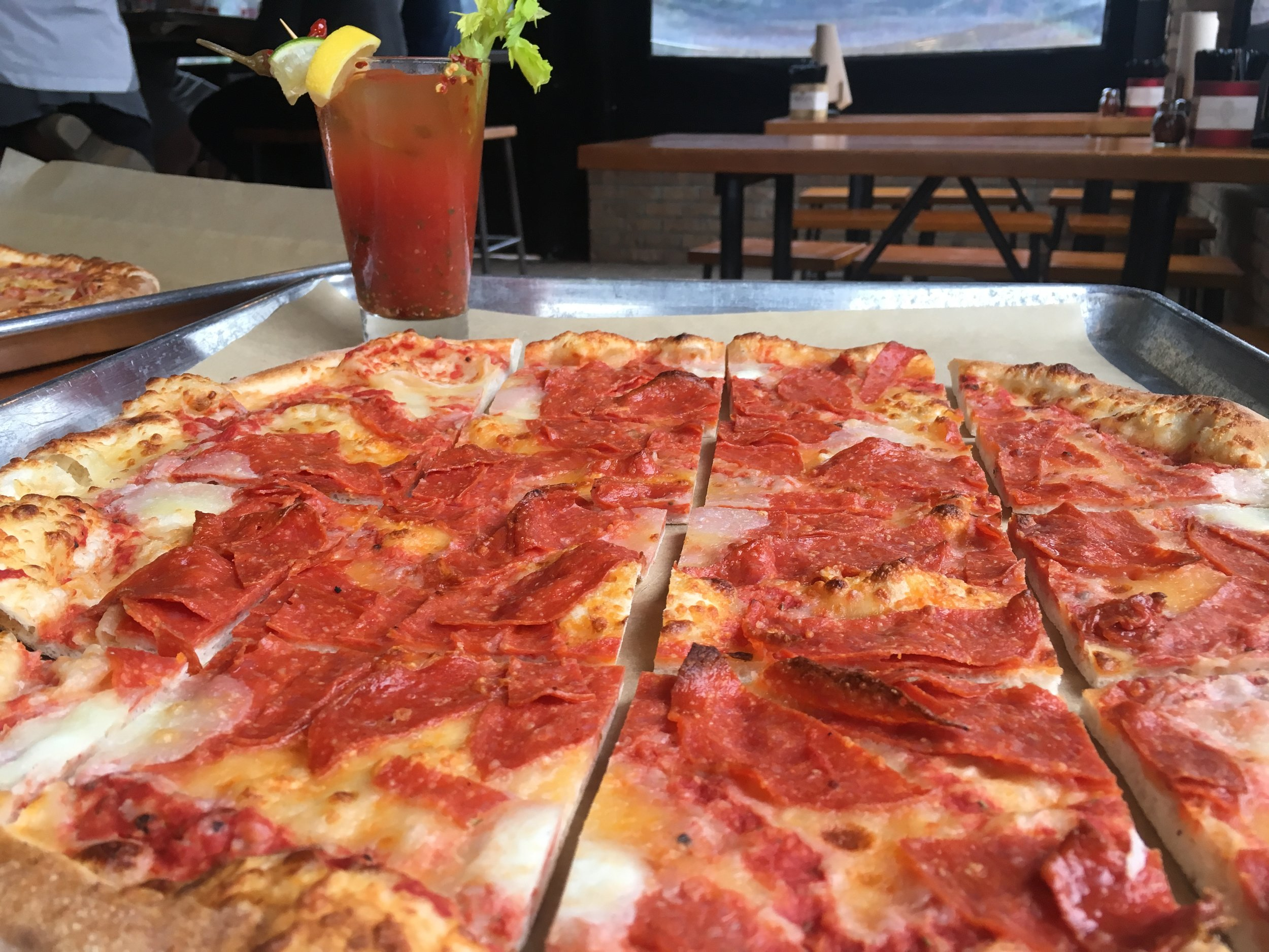 Cold pizza and a bloody mary - For what ails you on Sunday mornigns