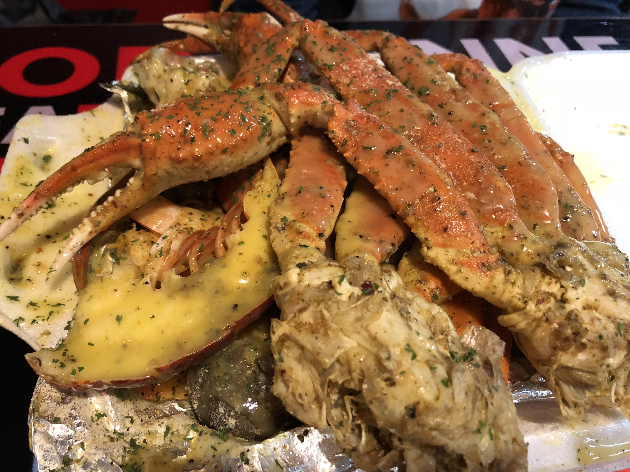 C-Port Platter - lobster, crab, shrimp, potatoes, corn, & sausage