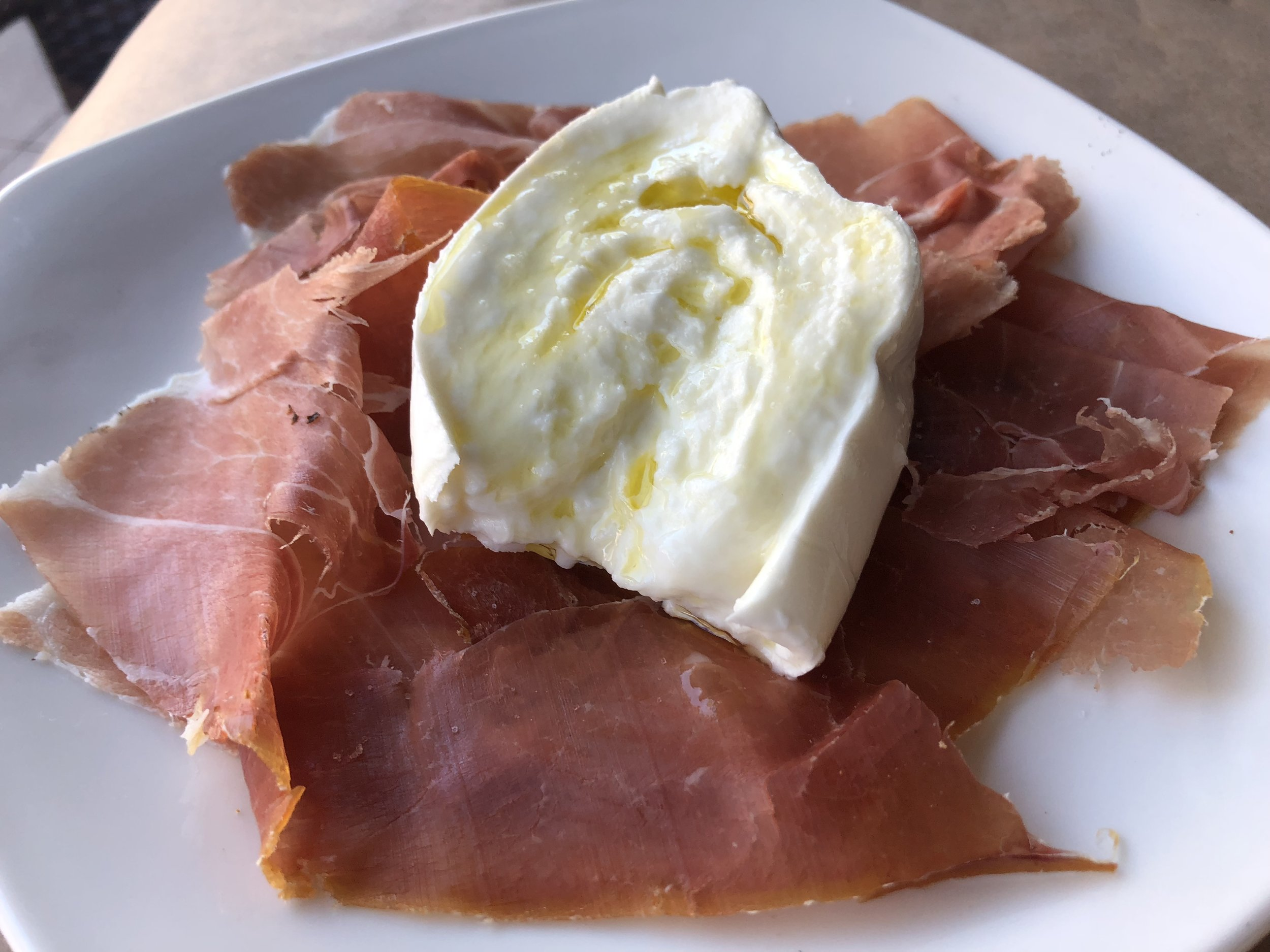 Proscuitto San Daniele & Burrata  - up close & personal