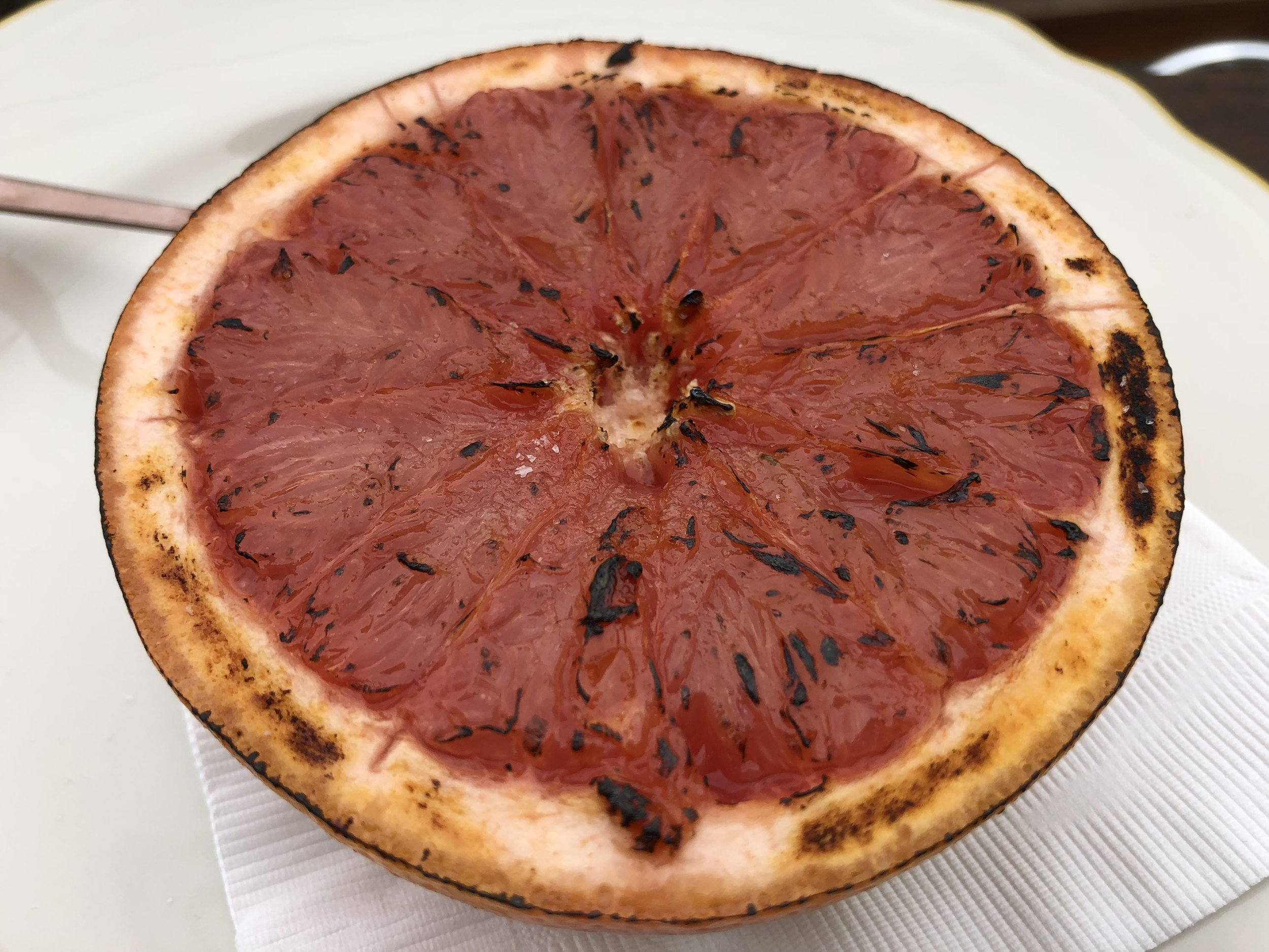 brûléed Grapefruit  - with pink Himalayan salt