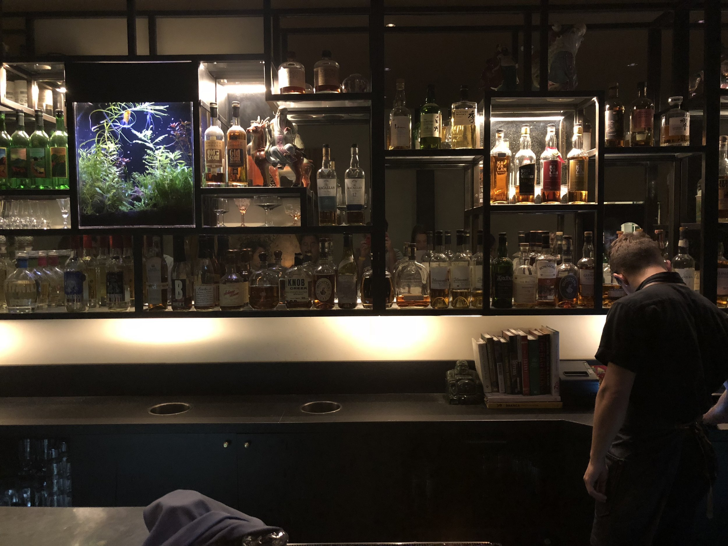The bar up front