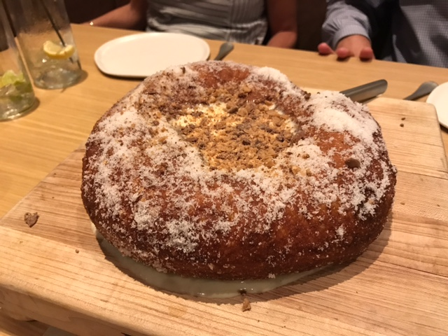 6. Stoke - Stoke has been our top Uptown restaurant for a while. The vibe is one of the coolest in Charlotte, and the food is always excellent. The star of the show is the donut with diplomat cream. Make sure you bring friends so you aren't judged when you order one for yourself.