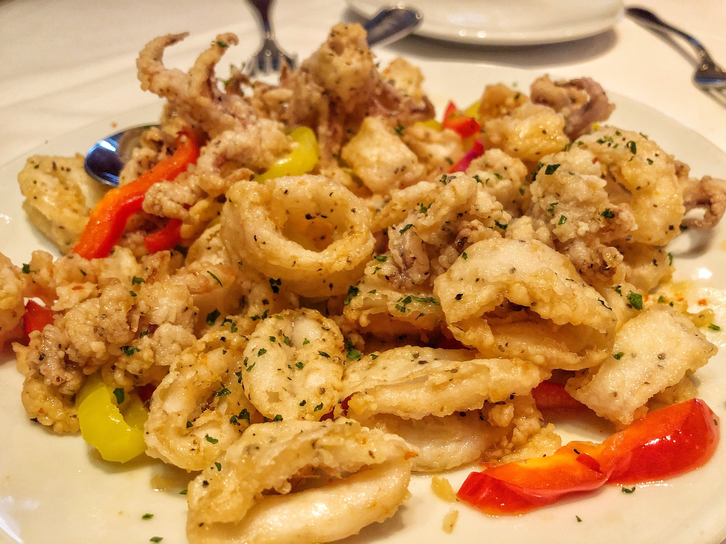 SWEET CHILE CALAMARI  - Jason's perennial favorite--we ate all of this!