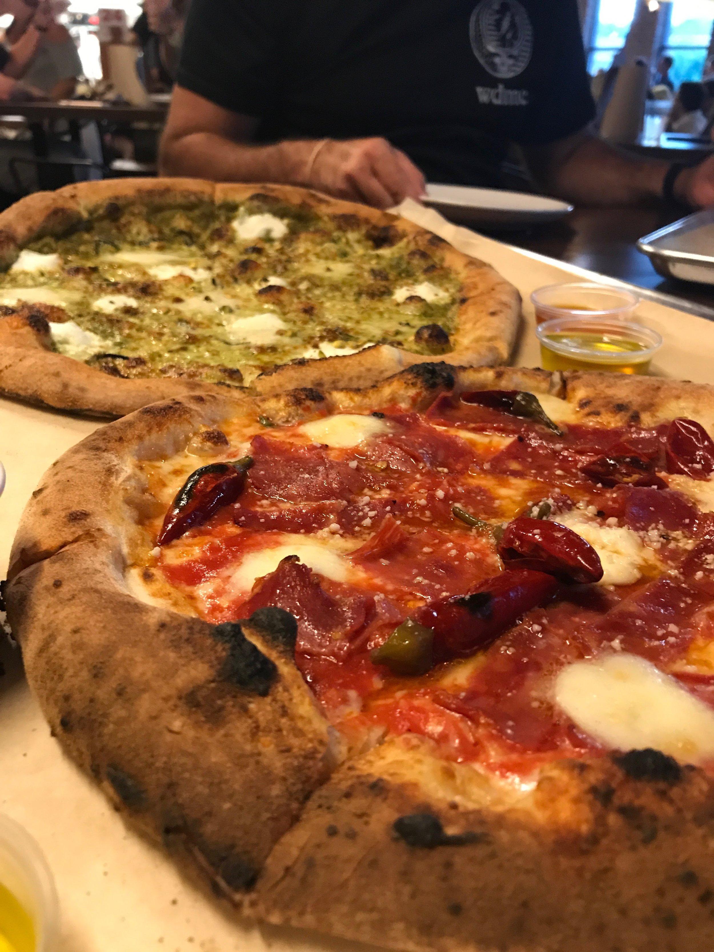 DIAVOLA - Spicy salami, Calabrian pepper, San Marzano tomato sauce, Buffalo Mozzarella, Pecorino